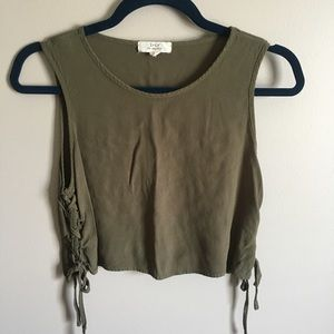 Forever 21 Olive Braided Tank Top M